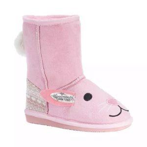 MUK LUKS Bonnie Pink Bunny Girls' Toddler Boot